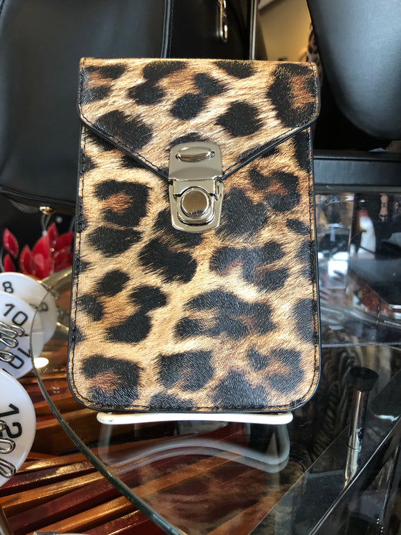 Leopard Cross Body with Phone Slip