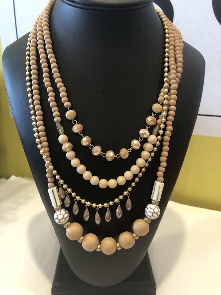 Fashion Necklace- Layered Beads