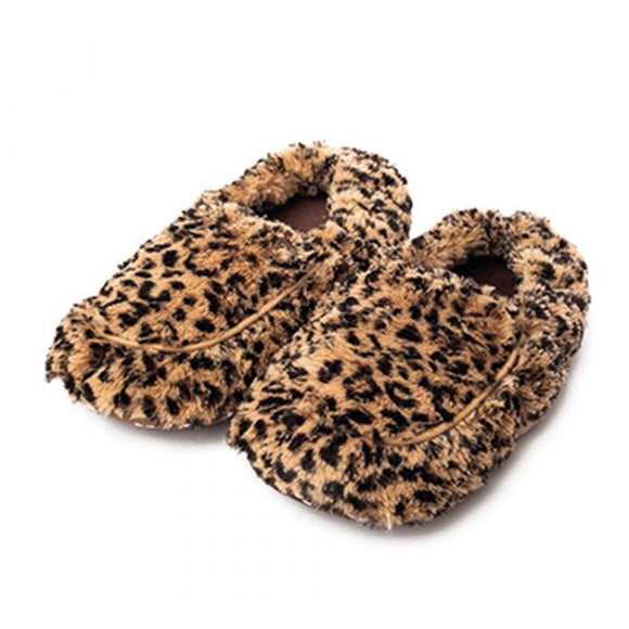 Warmies Plush Body Slippers Leopard