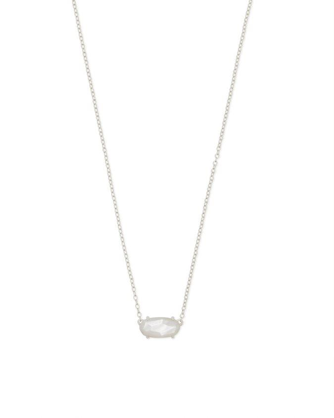 Ever Necklace in Rhodium Ivory MOP