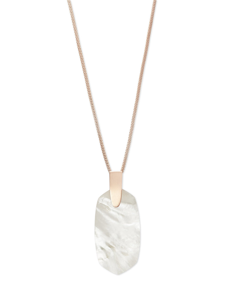 Inez Necklace in Rose Gold Ivory MOP