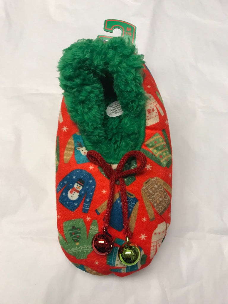 Snoozie Ugly Christmas Sweater Slippers
