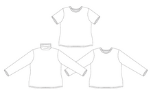 Load image into Gallery viewer, Tarlee T-Shirt Sewing Pattern PDF