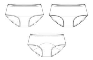 Waratah Undies & Period Undies Sewing Pattern PDF