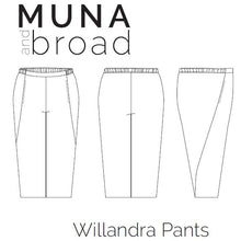 Load image into Gallery viewer, Willandra Pants Sewing Pattern PDF
