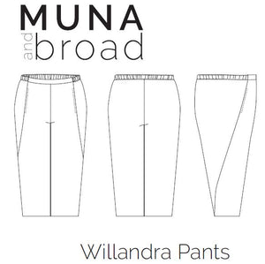Willandra Pants Sewing Pattern PDF