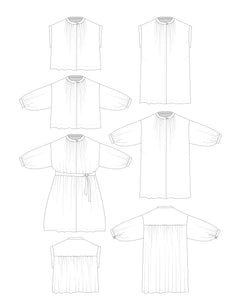 Huon Shirt and Dress sewing Pattern PDF