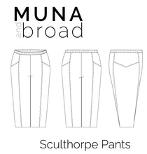 Load image into Gallery viewer, Sculthorpe Pants Sewing Pattern PDF