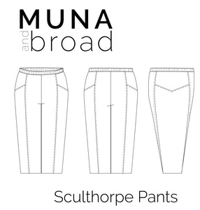 Sculthorpe Pants Sewing Pattern PDF