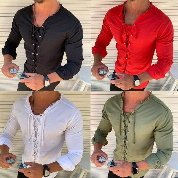 Einfarbiges Casual Fashion Shirt für Herren