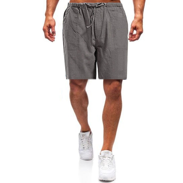 Leinen Straight Pants Loose Fit Homewear Freizeitshorts