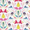 Madagascar Wallpaper in White and Brights