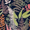 Sample of Welcome To The Jungle Wallpaper in Navy, Lime Green and Flamingo Pink