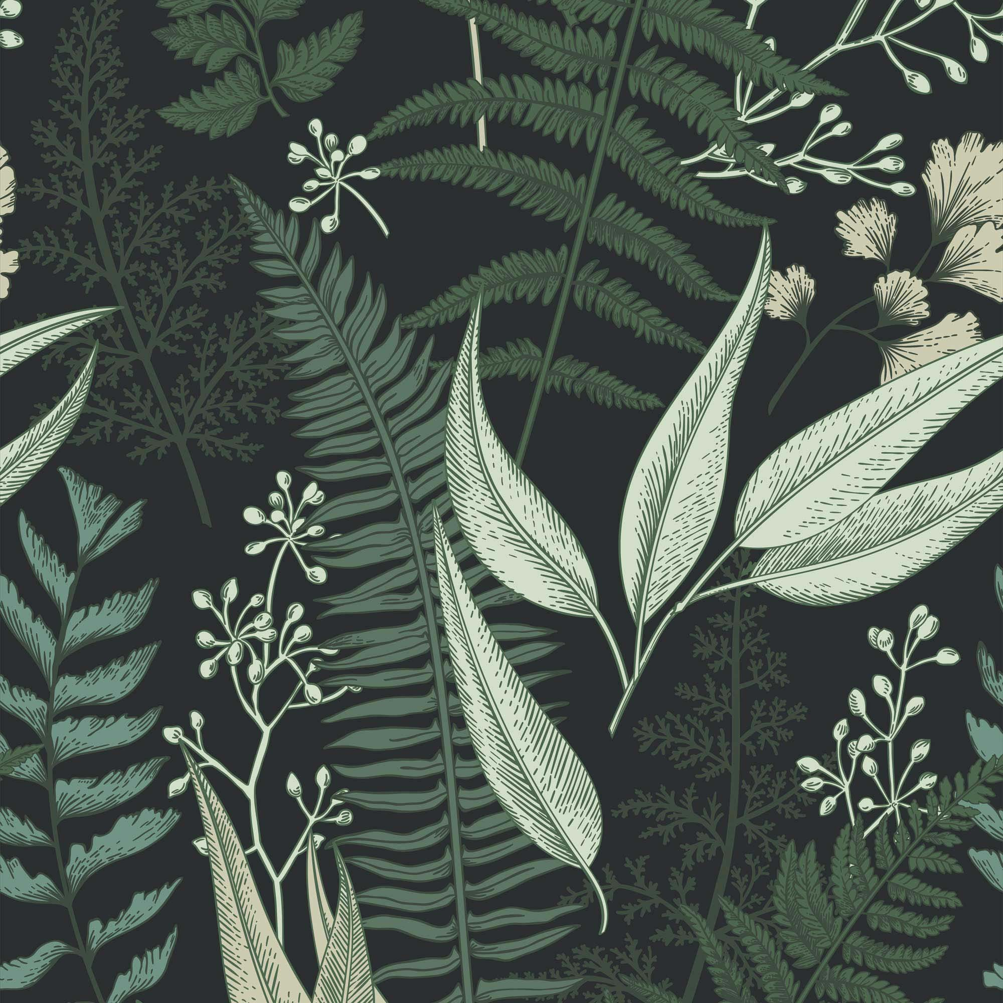 Welcome To The Jungle Wallpaper In Forest Greens Lust Home