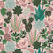 Plantopia Wallpaper in Shades of Blush and Green