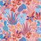 Plantopia Wallpaper in Powder Pink, Peach and Bright Sky Blue