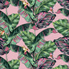 Tropic Like It's Hot Wallpaper in Bubblegum Pink and Tropical Green