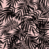 Sample of Palm Springs Wallpaper in Charcoal on blush