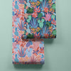 Plantopia Wallpaper in Navy and Brights