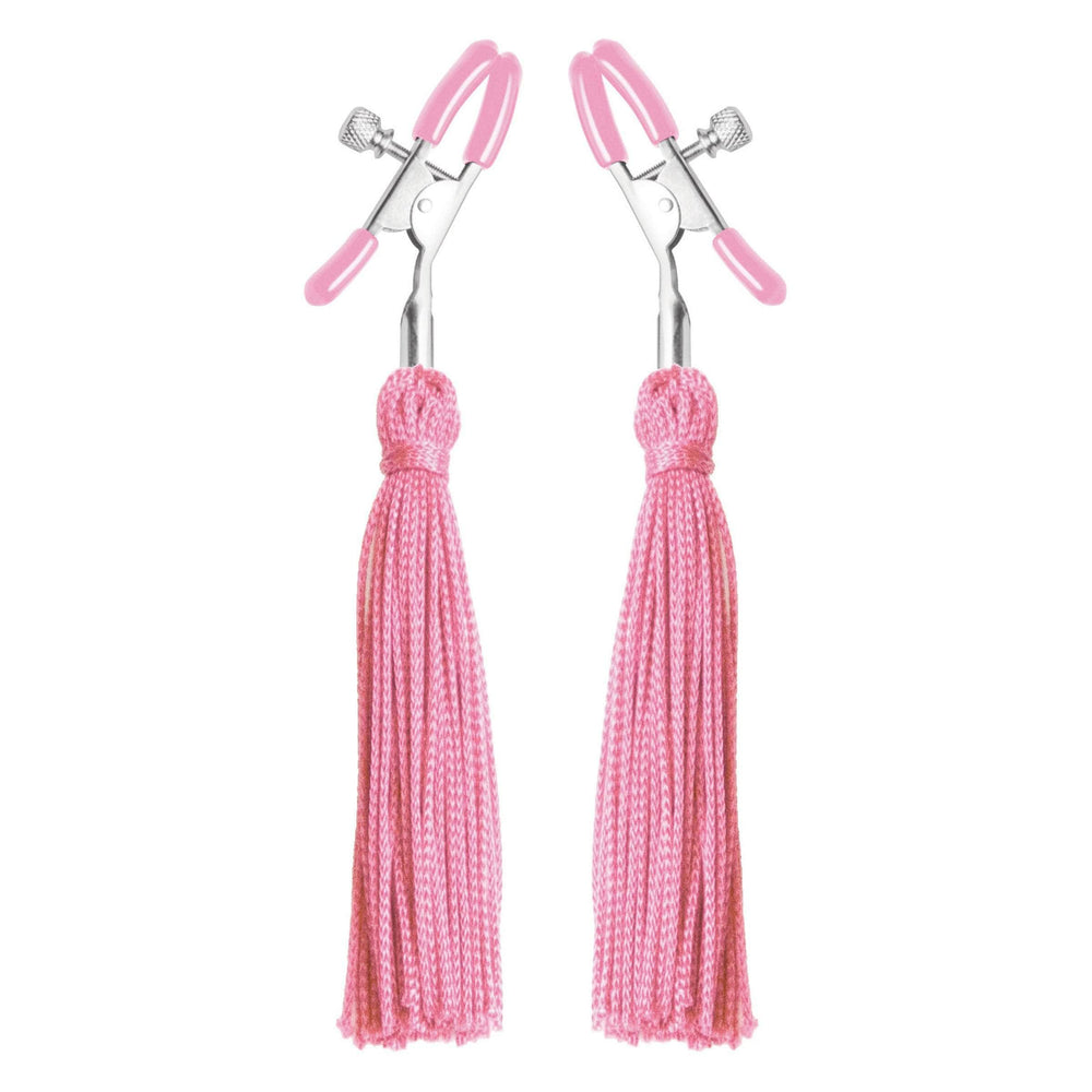 Tickle Me Pink Nipple Clamp Tassels