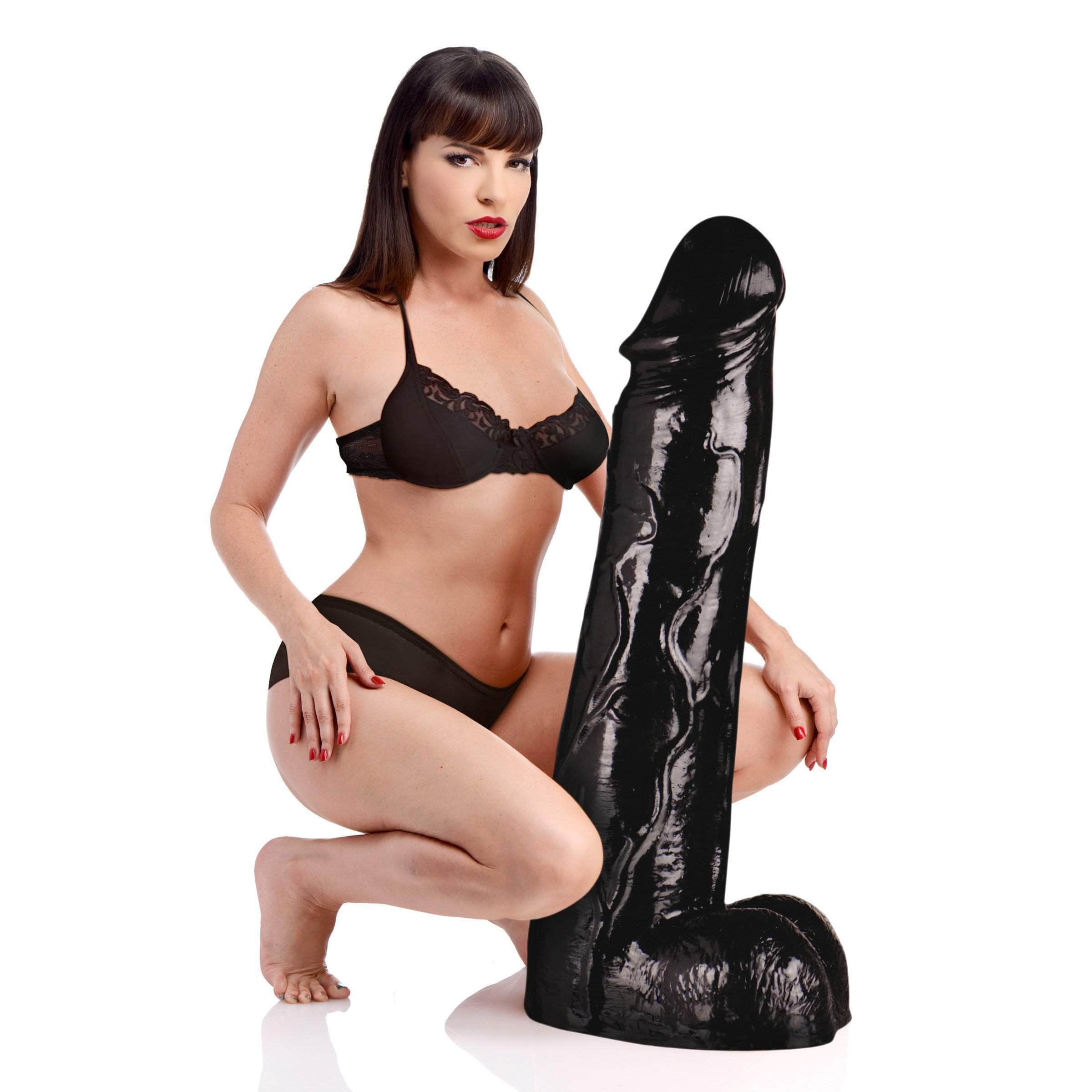 Moby Huge 3 Foot Tall Super Dildo - Black