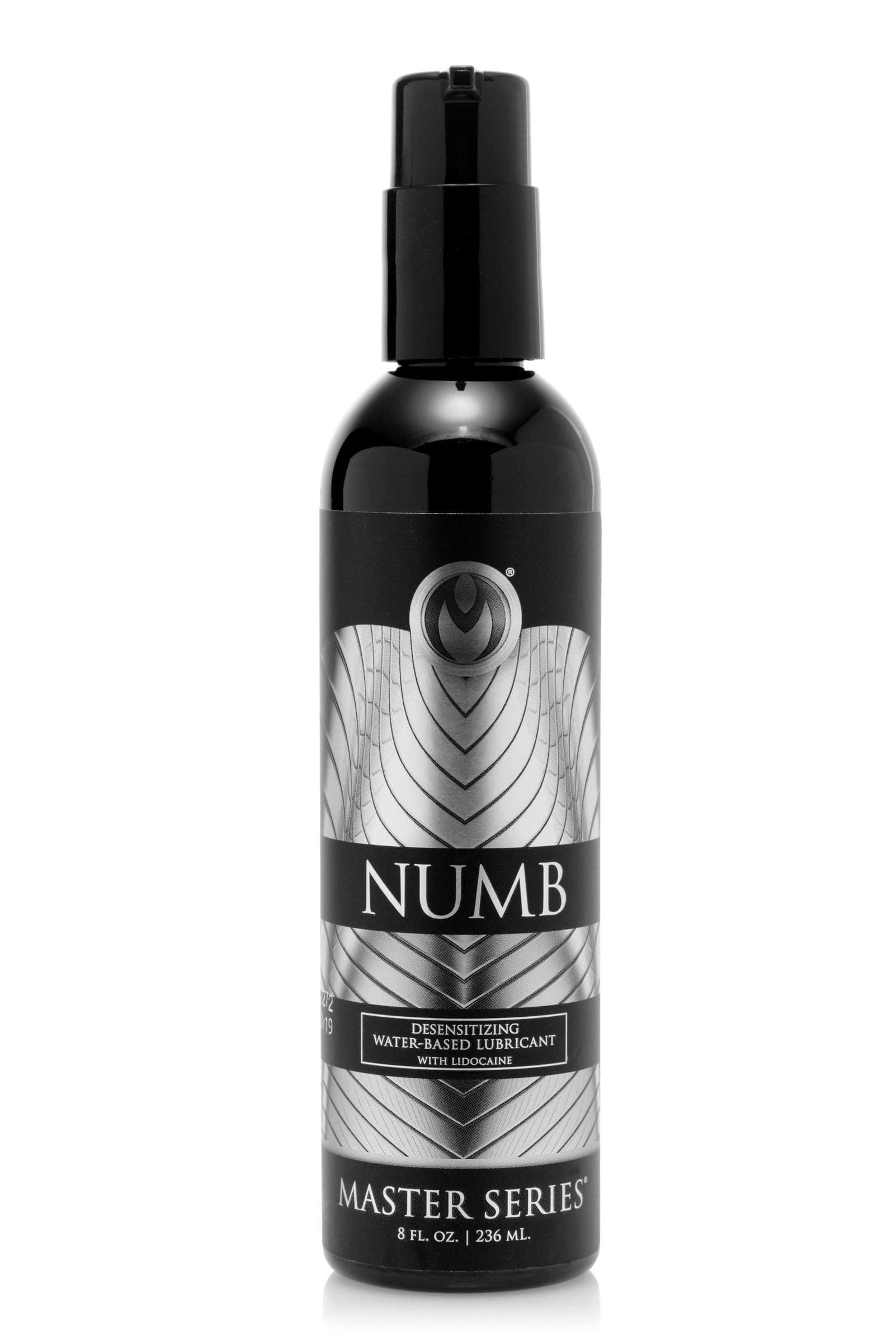 Numb Desensitizing Water Based Lubricant With Lidocaine - 8 Oz
