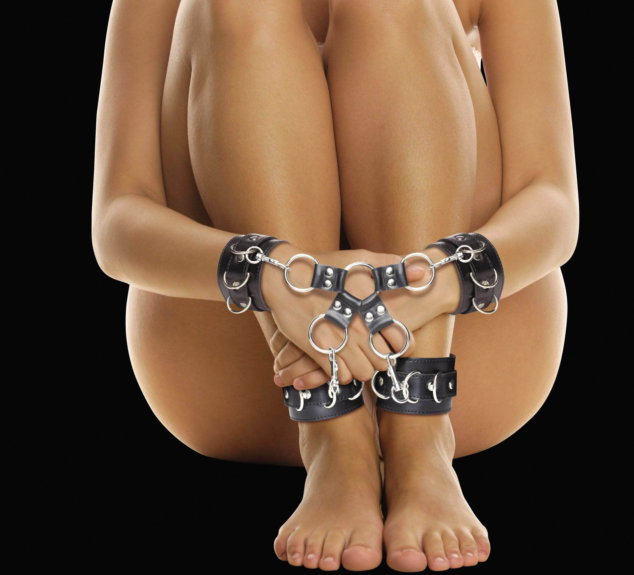 Ouch! Leather Hand And Leg Cuffs