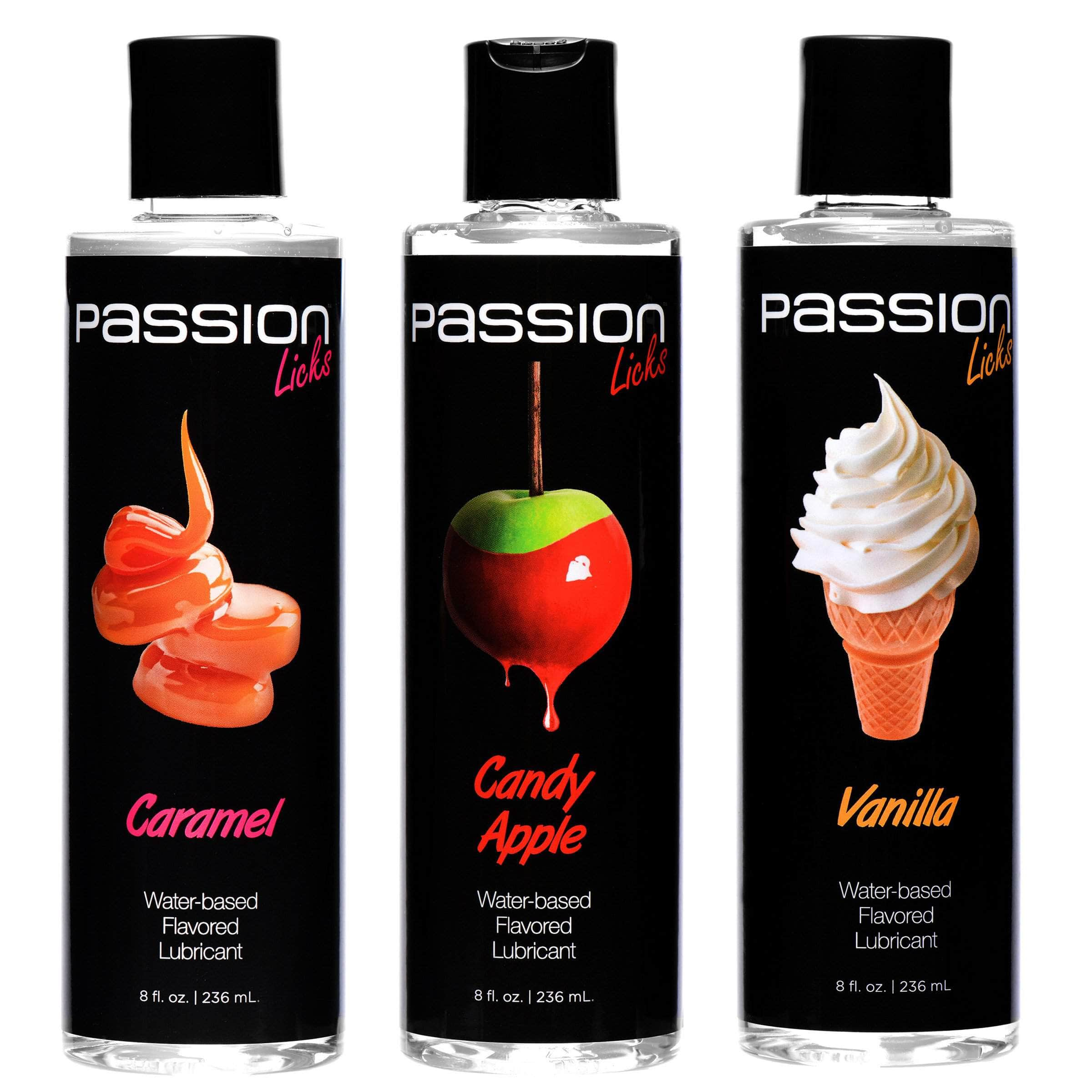 Passion Licks 3 Flavor Lube Pack- Sweets
