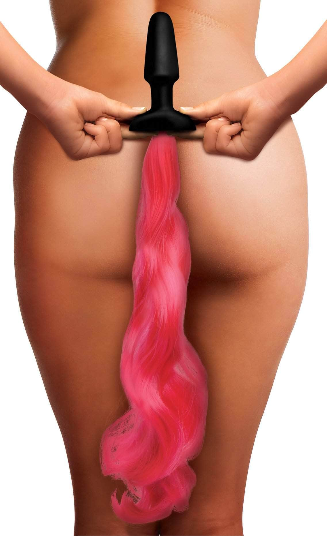 Hot Pink Pony Tail Anal Plug