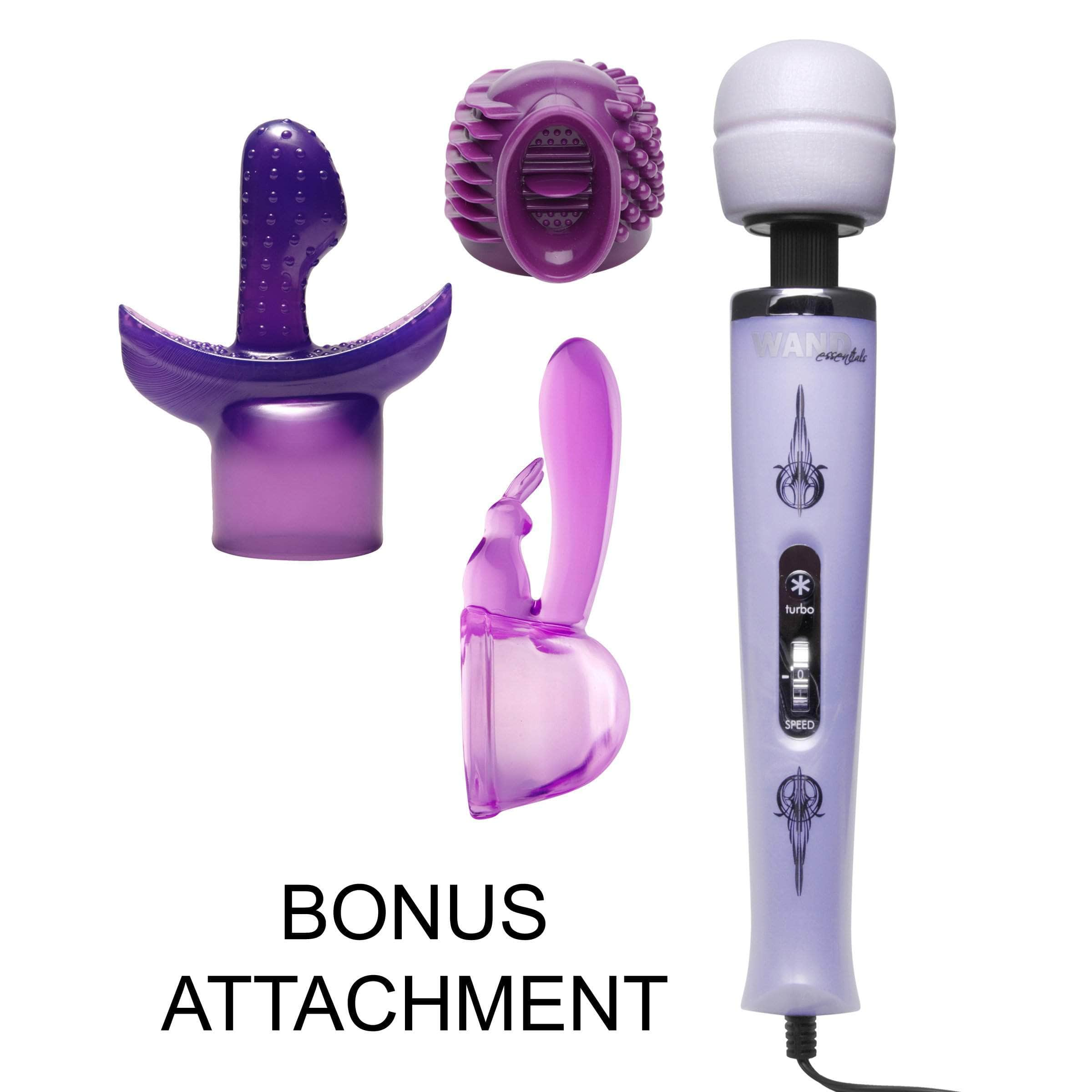 Turbo Purple Pleasure Wand Kit With Free Attachment