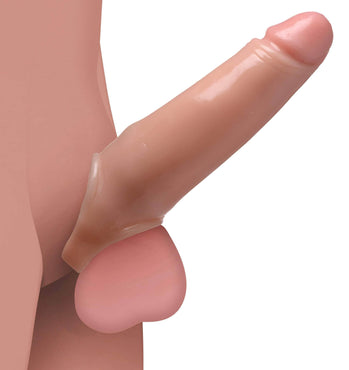2 Inch Penis Enhancer With Ball Strap - Flesh