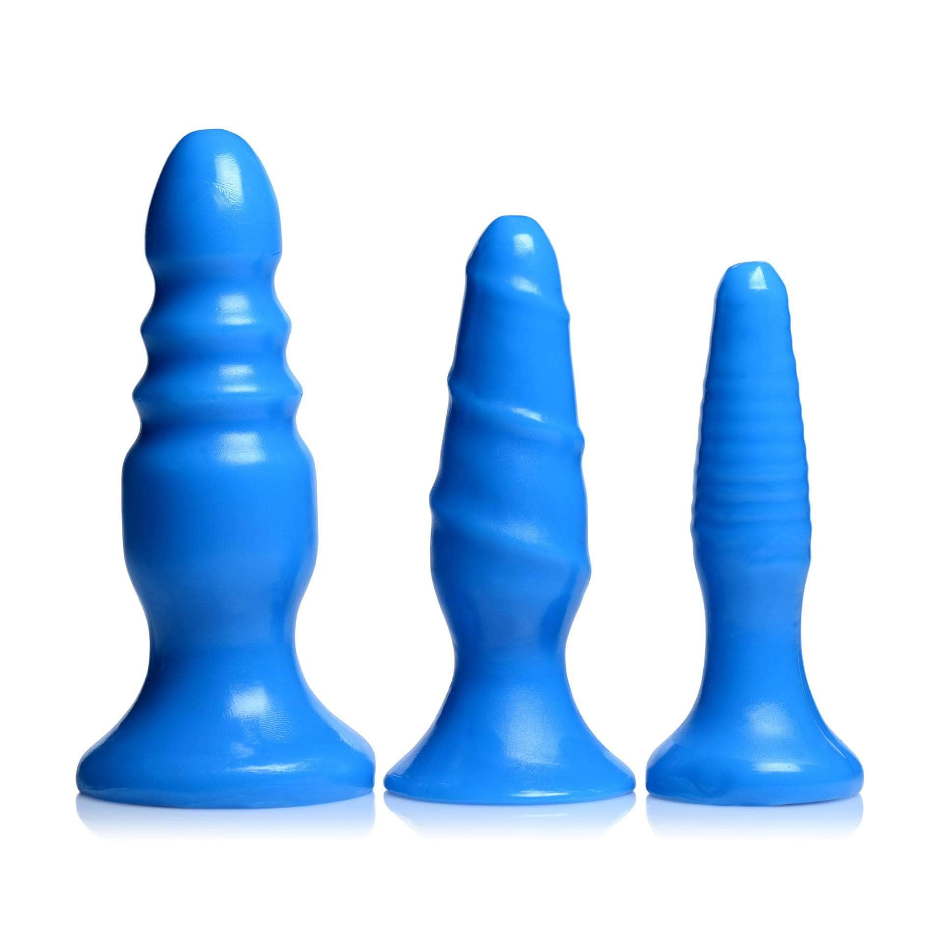 Vibrating Anal Fun Trio - Blue