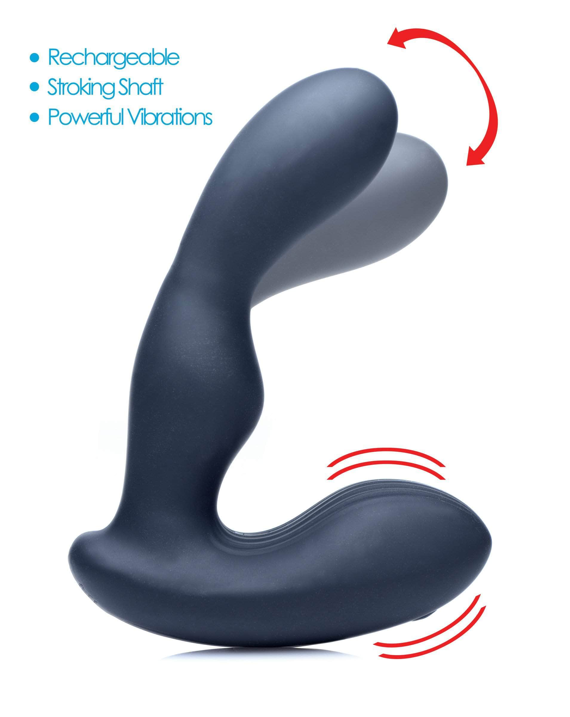 7x P-stroke Silicone Prostate Stimulator With Stroking Shaft