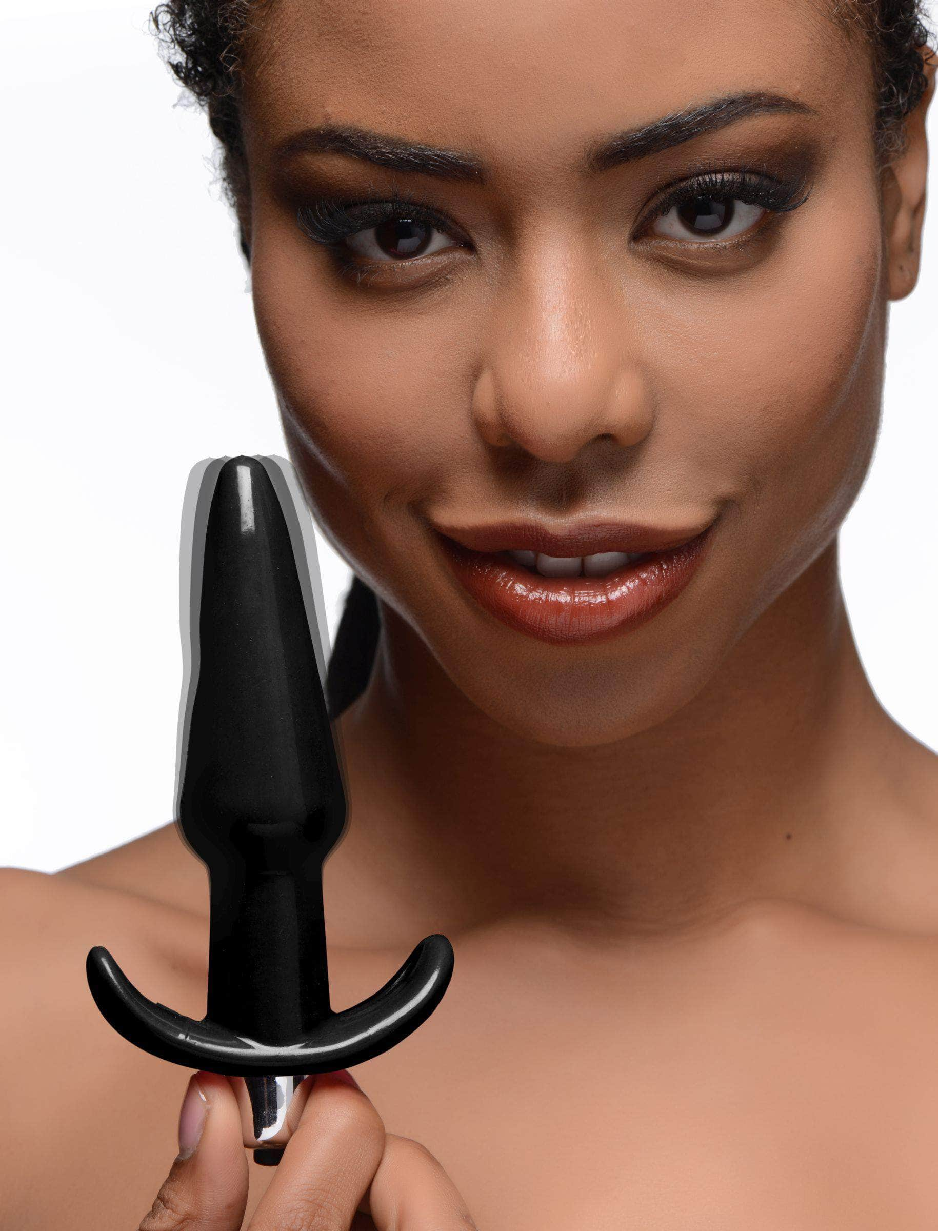 Smooth Vibrating Anal Plug - Black