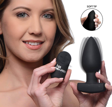 The Taper 10x Smooth Silicone Remote Control Vibrating Butt Plug