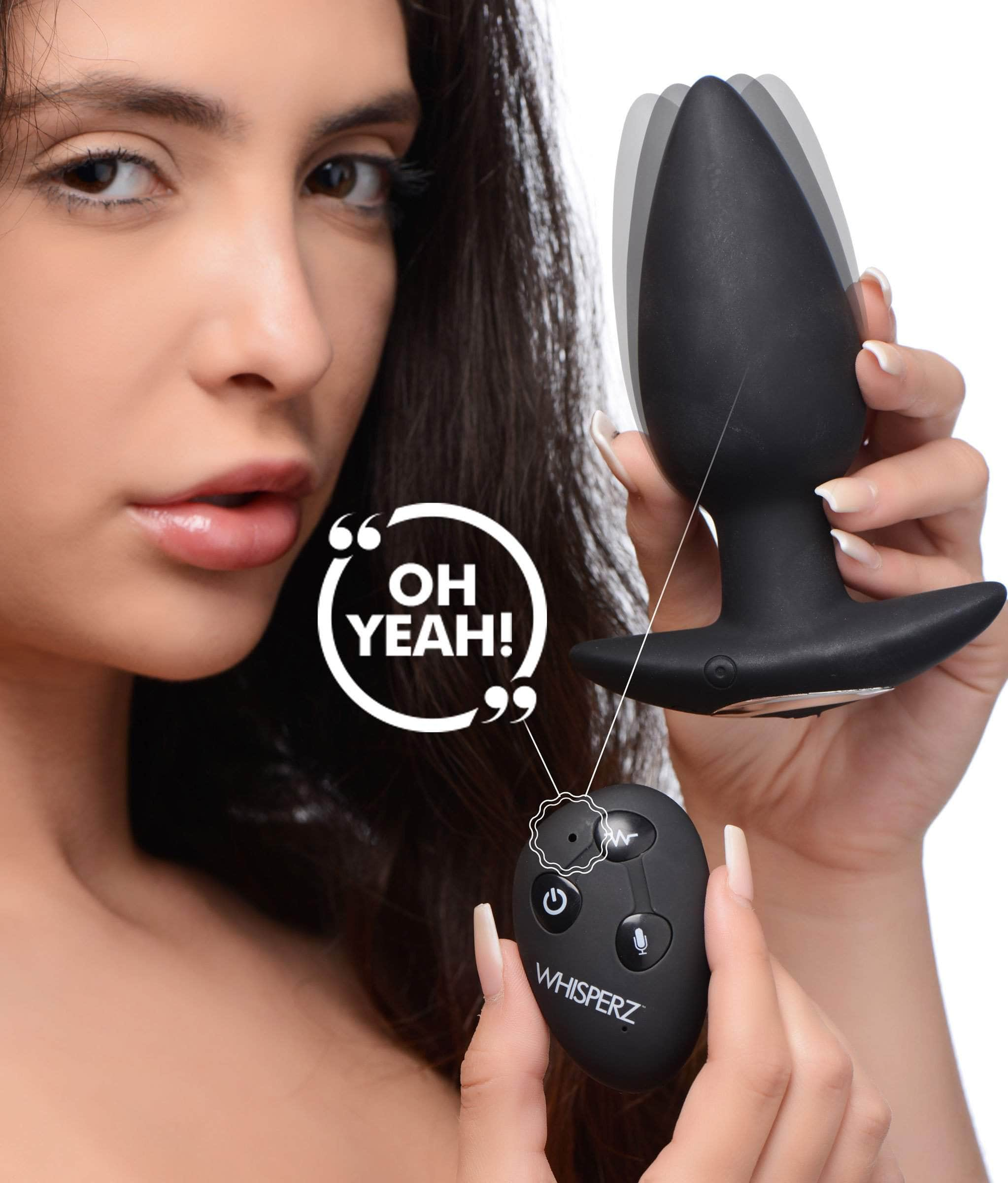 Voice Activated 10x Vibrating Butt Plug With Remote Control