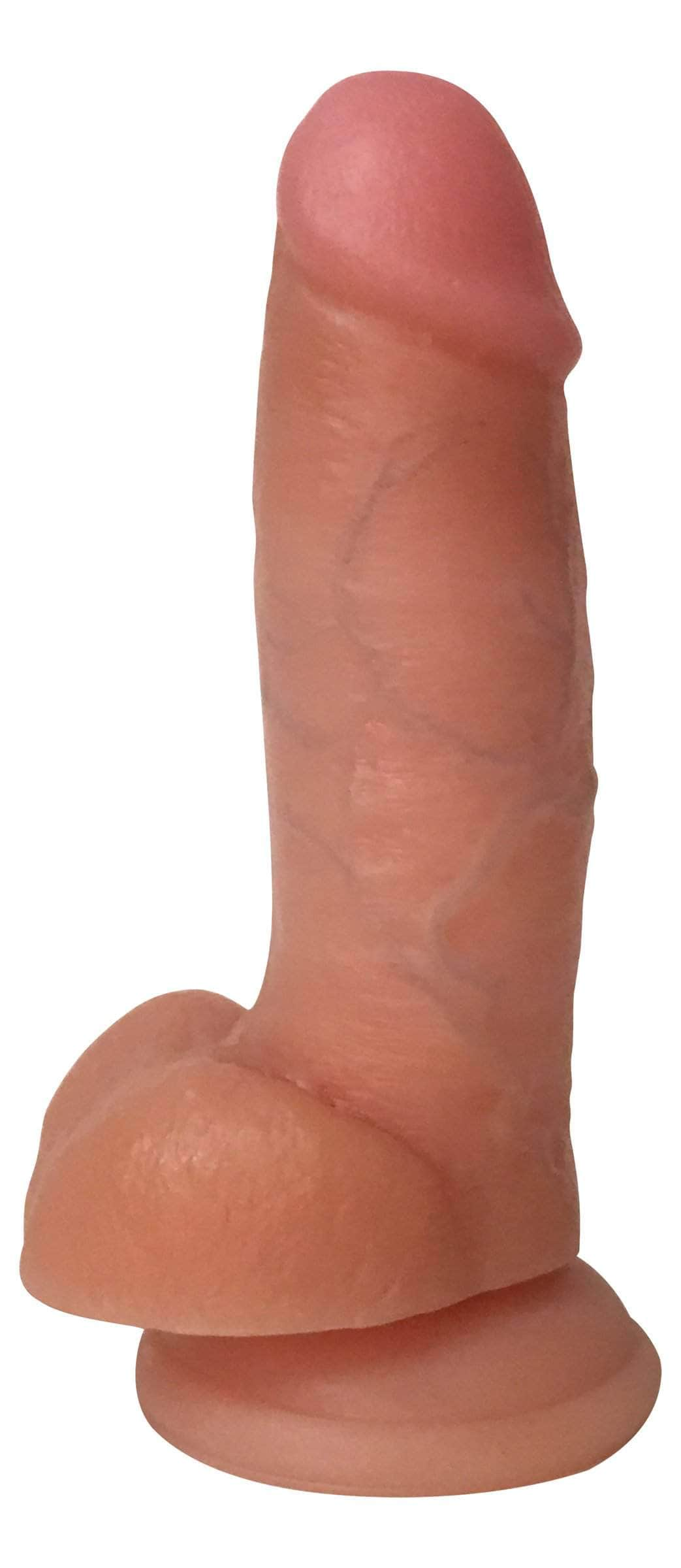 Jock Light Bareskin Dildo With Balls - 7 Inch