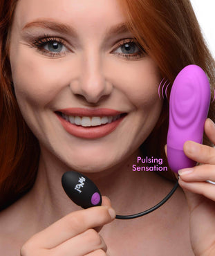 7x Pulsing Rechargeable Silicone Vibrator - Purple