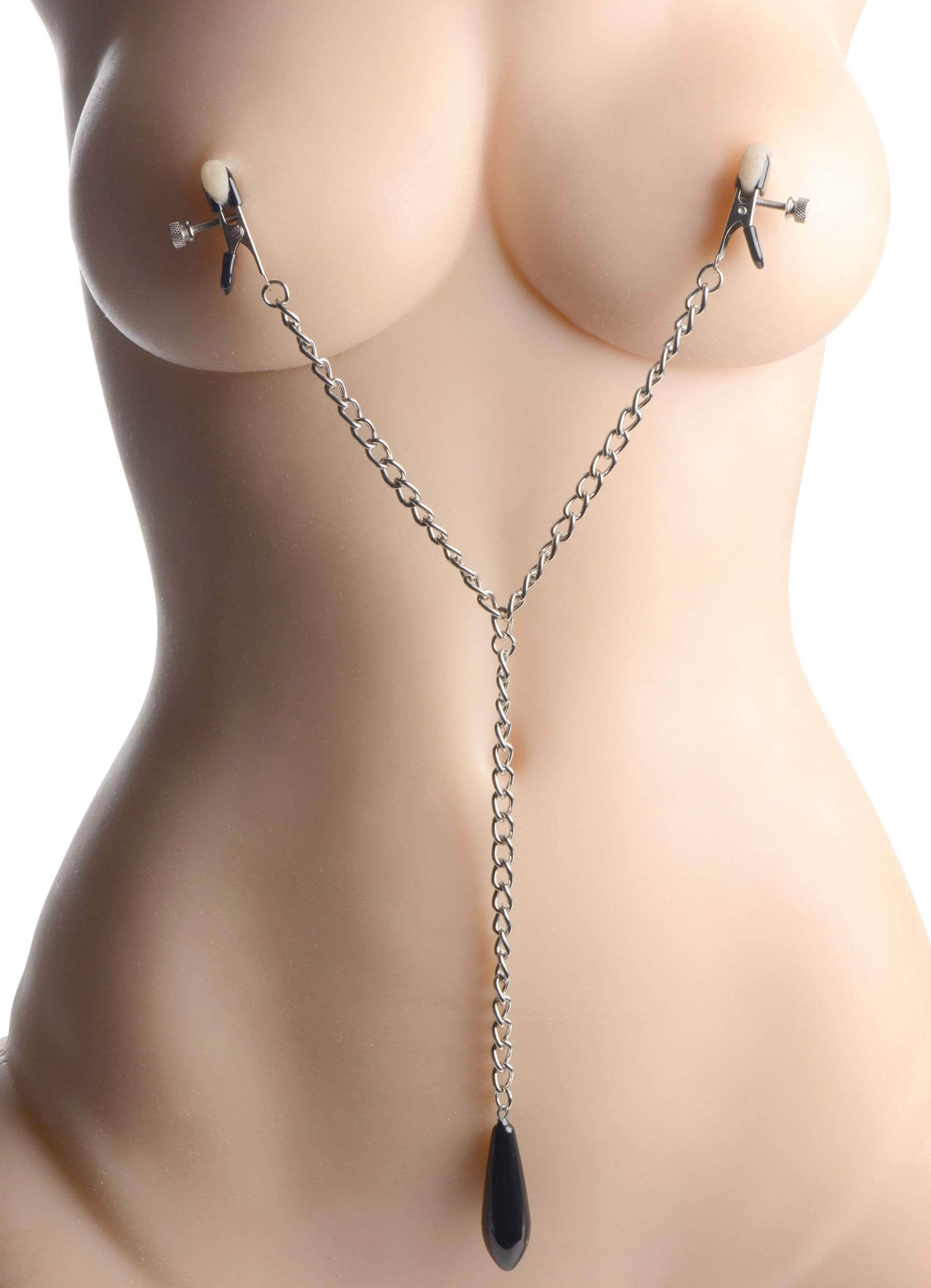 Titty Taunter Nipple Clamps With Weighted Bead