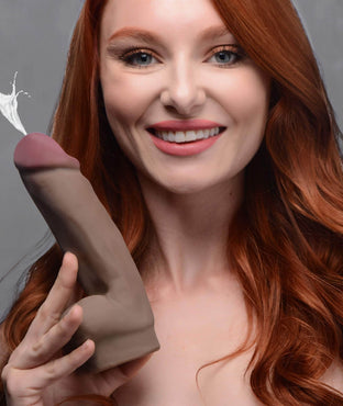 Dual Density Squirting Dildo - 7 Inch