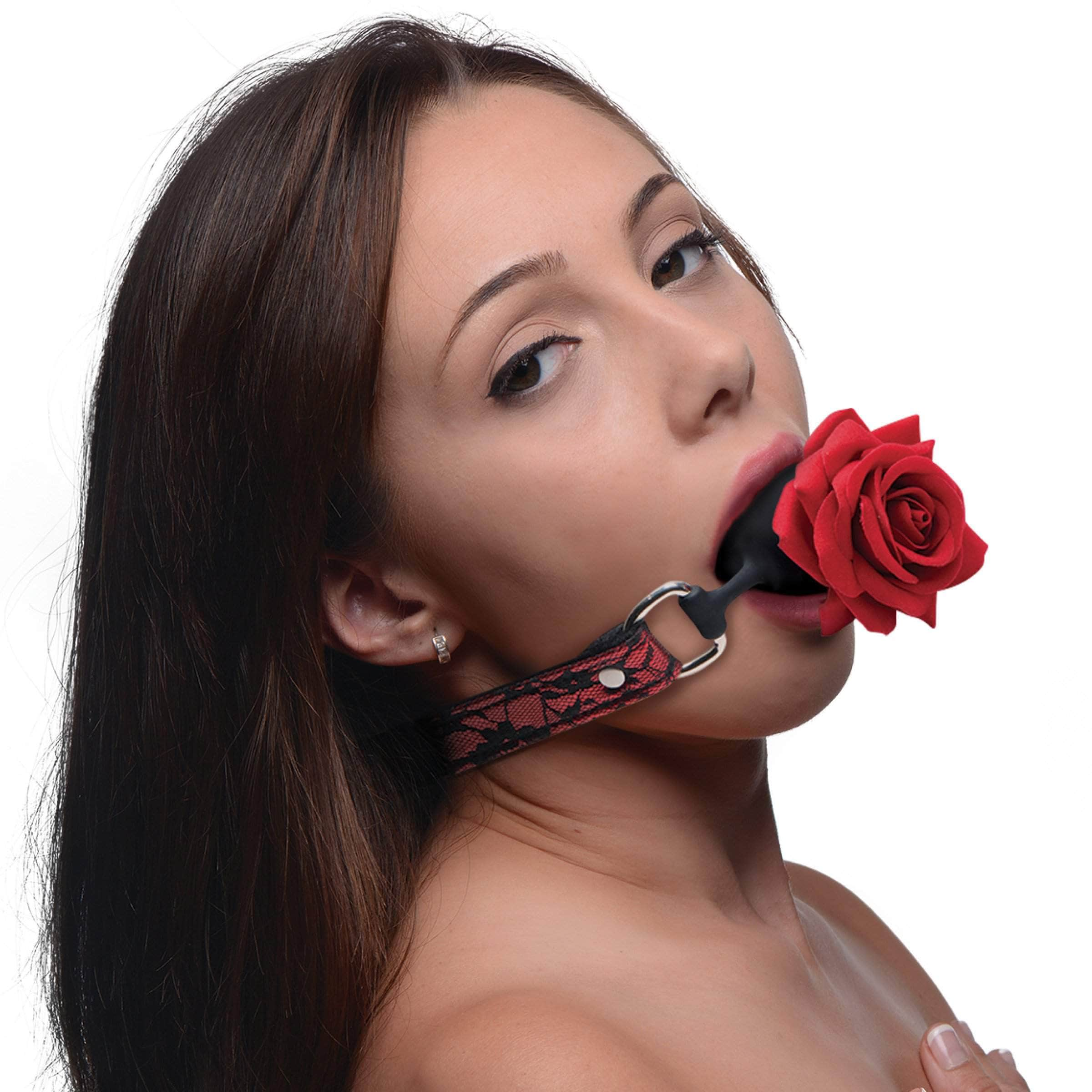 Silicone Ball Gag With Rose