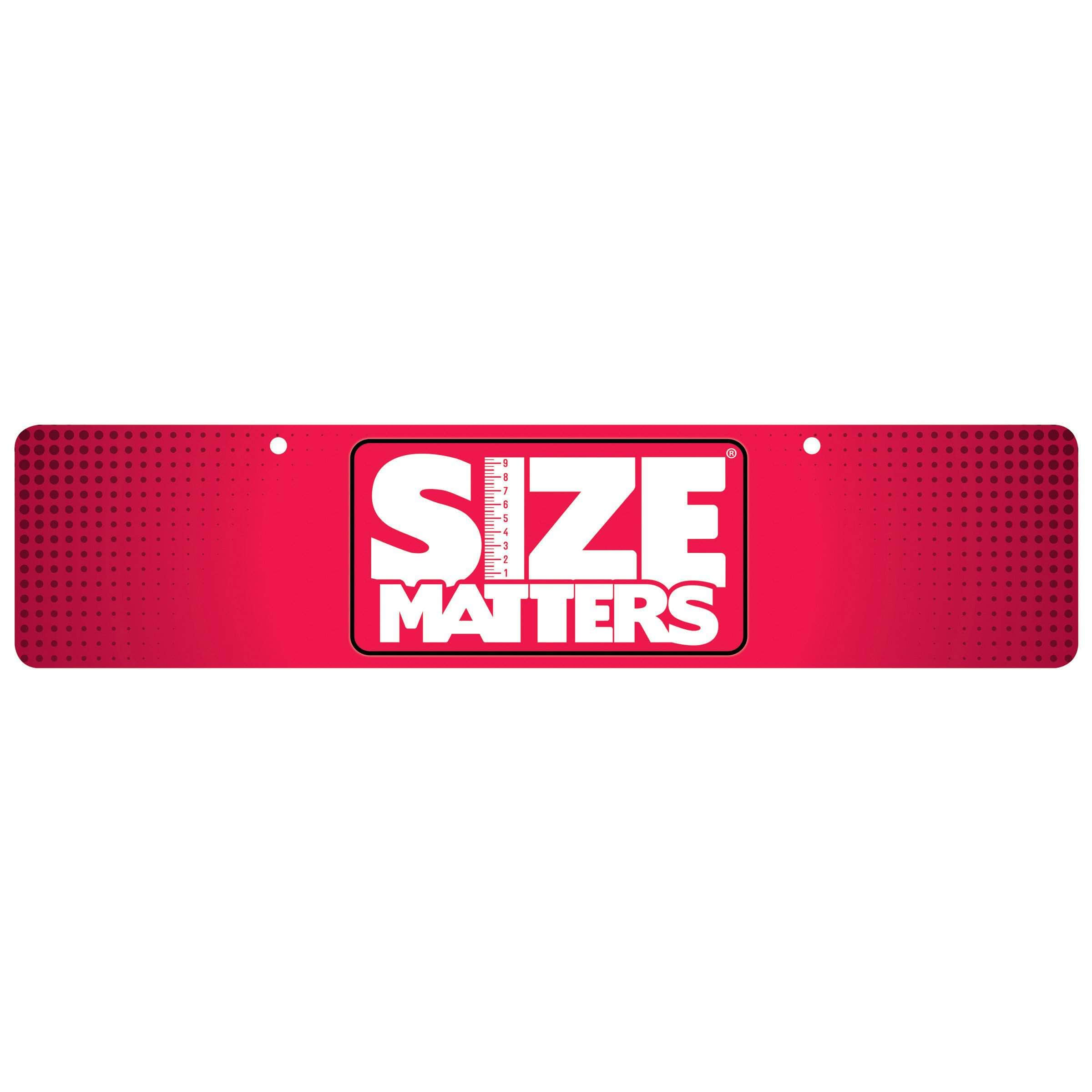 Size Matters Display Sign