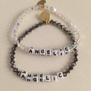 Both colors of the two ANGELIC bracelets.