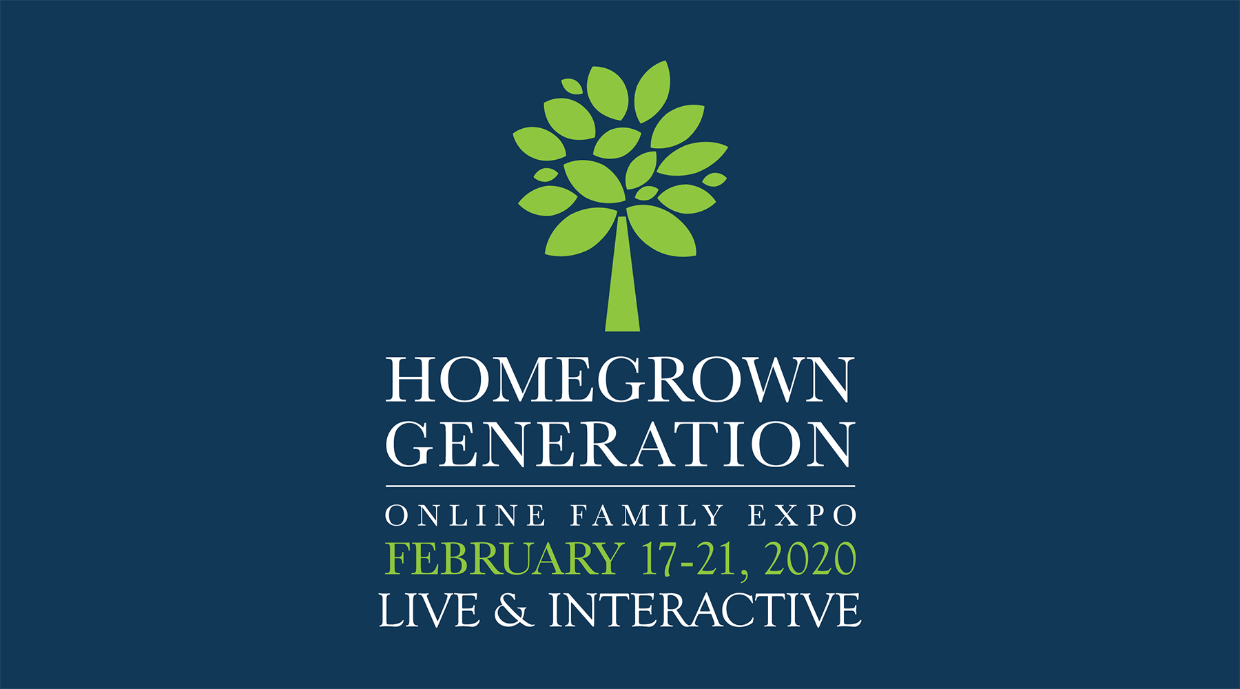 Homegrown Generation Online Family Expo banner