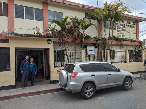 Dr. Hammer and his wife at a small hospital in Guatemala