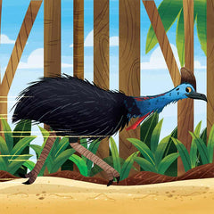 Southern Cassowary from What Can You Do, Australia? children's board book