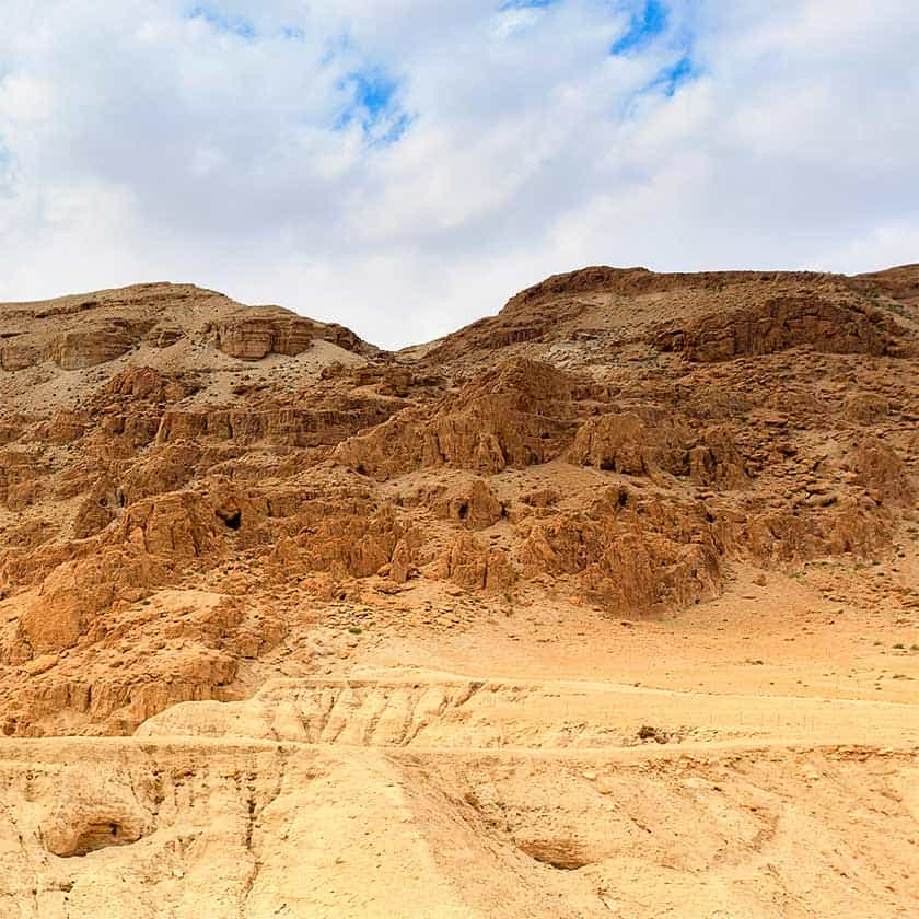 Science Shepherd Christian Homeschool Biblical Archaeology cave at Qumran