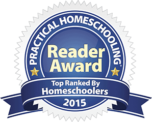 Practical Homeschooling Reader Award 2015 badge