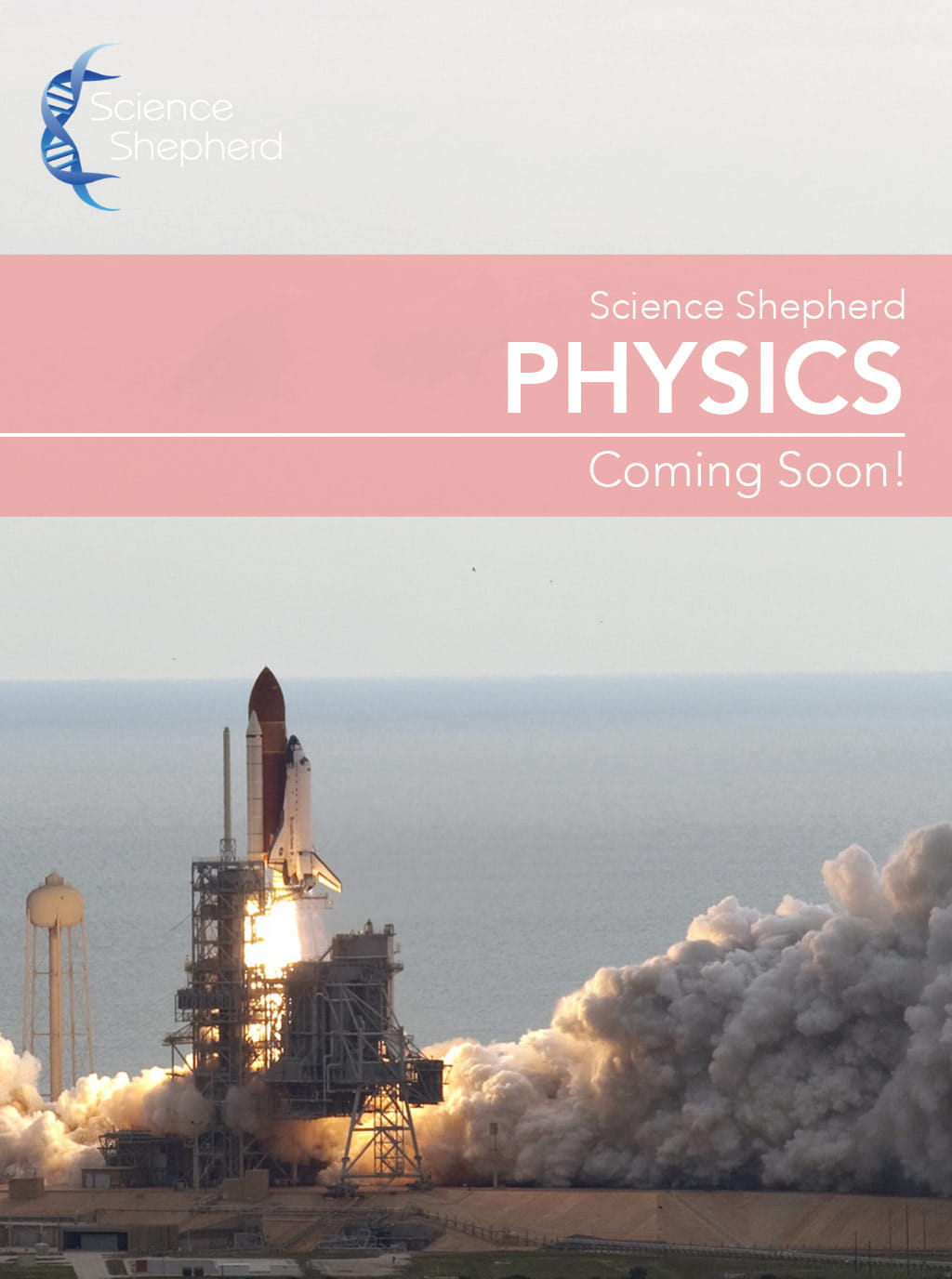 Science Shepherd Middle School Physics Homeschool Curriculum cover of shuttle launch