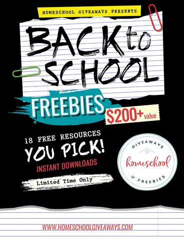 Science Shepherd and Homeschool Giveaways Back to School Freebies graphic